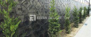 Doğaya zarar vermeyen duvar Baskı betonu