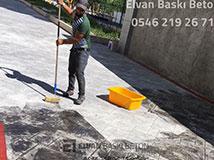Baskı beton Taşlama