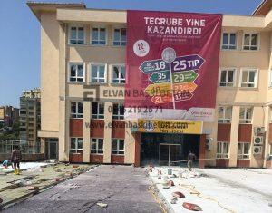 İstanbul - Başakşehir Özel Çınar Fen Lisesi Baskı Beton Uygulaması
