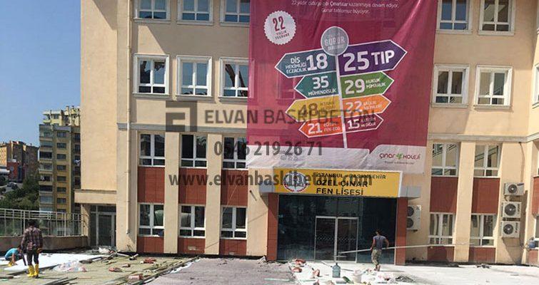 İstanbul – Başakşehir Özel Çınar Fen Lisesi Baskı Beton Uygulaması
