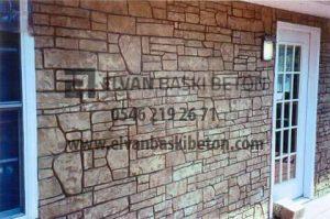 İzmir - Karşıyaka Duvar ve Zemin Baskı Beton Uygulaması
