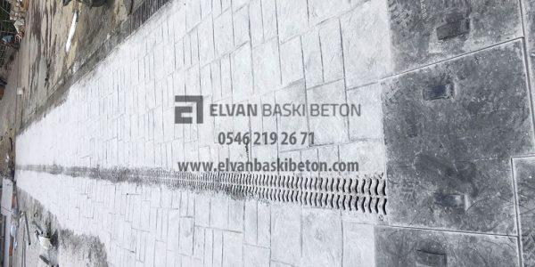 İstanbul - Başakşehir Özel Çınar Fen Lisesli baskı Beton Uygulama Sonrası Yürüyüş Yolu