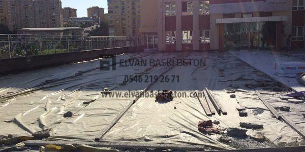 İstanbul - Başakşehir Özel Çınar Fen Lisesi, Baskı Beton Yapıldıktan Sonra Koruma