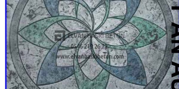 Yapılan Baskı Betonun Üzerindeki Figür Çiçek Madalyon Kalıbı
